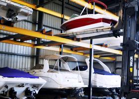 DEPENDABLE BOAT STORAGE SERVICES & Dry Rack Storage | Trojan Landing Marine